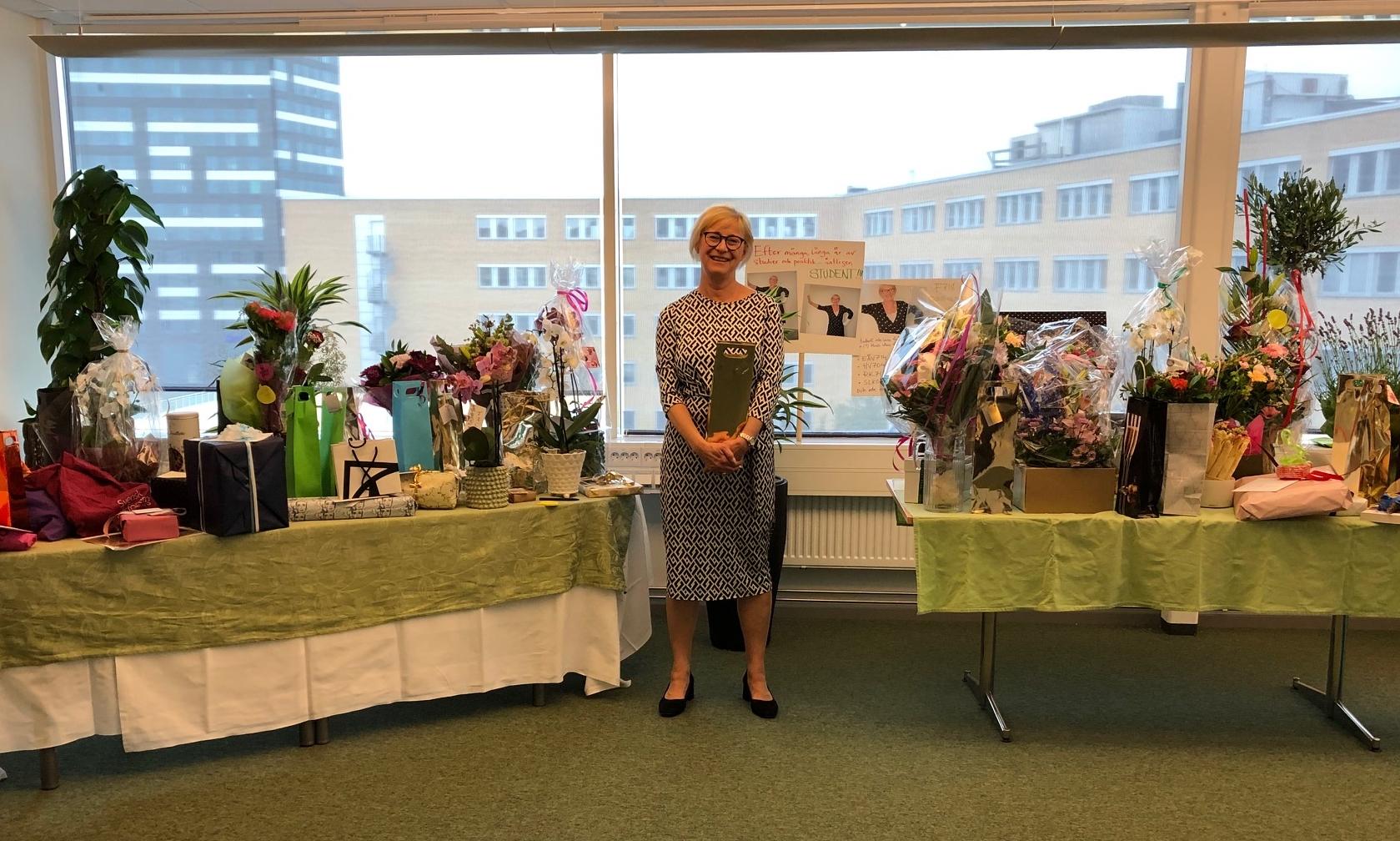 Ulla Thorslund tar adjö.