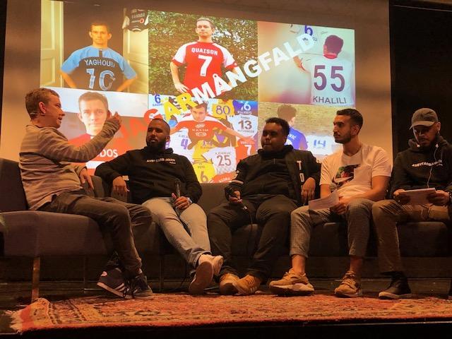 Sportjournalisten Erik Niva på besök i Husby.